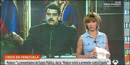 Nicolás Maduro y Susanna Griso de Antena 3.