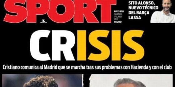 Portada Sport sobre CR