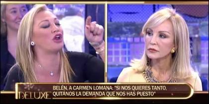 Belén Esteban y Carmen Lomana.