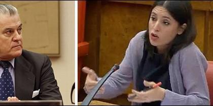 Luis Bárcenas e Irene Montero con Carolina Bescansa en el Congreso.