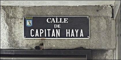 Capitan Haya, rebautizada  como calle del Poeta Joan Maragall.