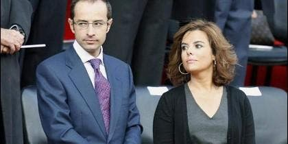 Soraya Sáenz de Santamaría y su marido José Iván Rosa Vallejo