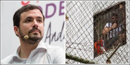 Alberto Garzón y el 'peligrosísimo' Leopoldo López.