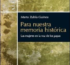 'Para nuestra memoria histórica: las mujeres en la voz de los Papas' (Verbo Divino)