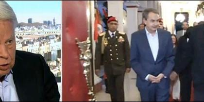 Felipe González y Zapatero con Nicolás Maduro.