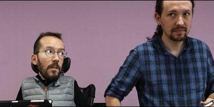 Pablo Iglesias y Pablo Echenique.