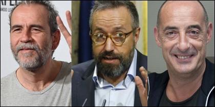 Willy Toledo, Juan Carlos Girauta y 'Felisuco'.