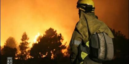 Labores de extinción de incendios de la Junta de Castilla y León