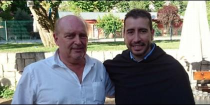 Responsables del vídeo vocacional de los agustinos, Pablo Ibáñez e Iván Pérez