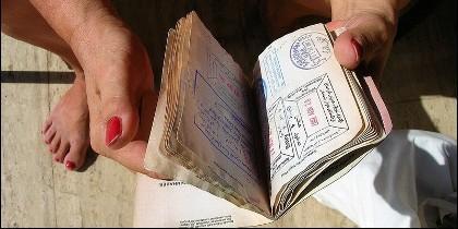 Pasaporte, forntera, visado y migración.