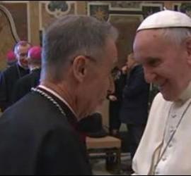 Luis Ladaria, con el Papa Francisco