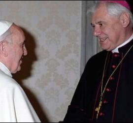 Müller, con el Papa Francisco