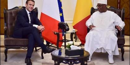 Emmanuel Macron junto a su homólogo de Malí, Boubacar Keita