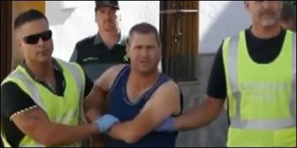 Manuel González González, conocido como el 'loco del chándal', detenido por la Guardia Civil.