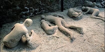 Habitantes de Pompeya víctimas del Vesubio