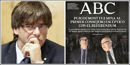 Carles Puigdemont y las portadas de ABC. 4-07-2017