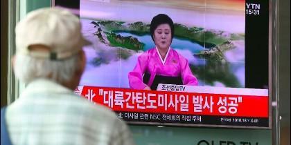El anuncio del lanzamiento del misil en Corea del Norte