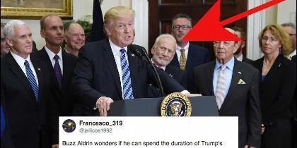 Donald Trump y Buzz Aldrin