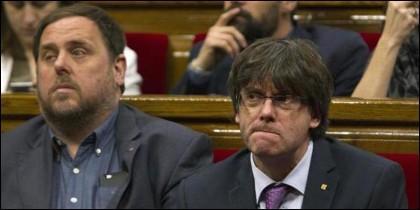 Junqueras y Puigdemont.