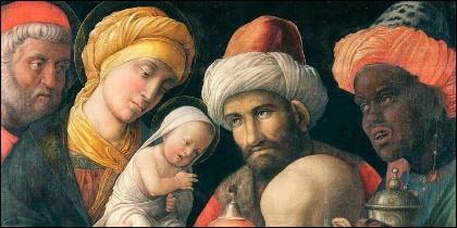 Nacimiento de Jesús y Adoración de los Magos de Mantegna.