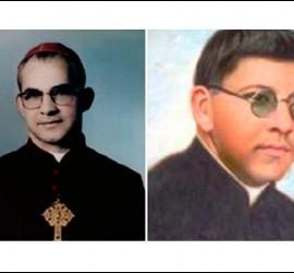 Monseñor Jaramillo y el cura Ramírez