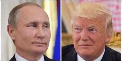 Vladimir Putin mira a Donald Trump.