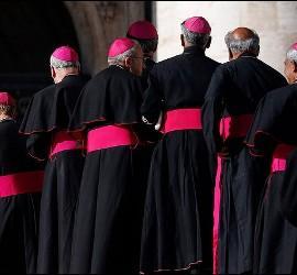 El Papa saluda a obispos en el Vaticano