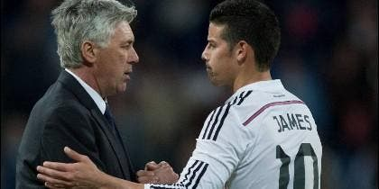 Ancelotti con James.