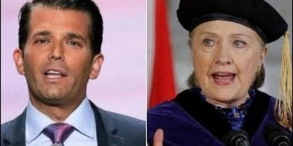 Donald Trump Jr. y Hillary Clinton