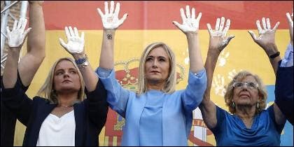 Maria Mar Blanco, Cristina Cifuentes y Manuela Carmena.
