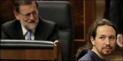 Mariano Rajoy (PP) y Pablo Iglesias (PODEMOS).