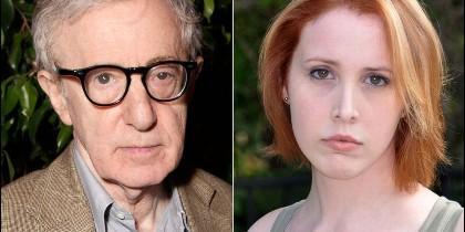 Woody Allen y su hijastra Dylan Farrow.
