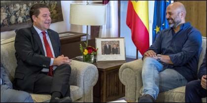 García-Page (PSOE) y García Molina (PODEMOS).
