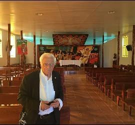 Padre Ángel, en la catedral de Sao Felix