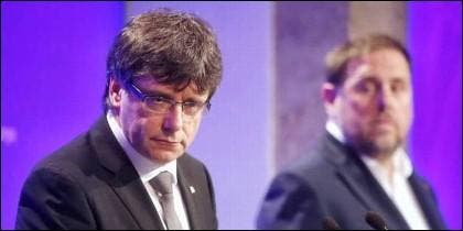 Carles Puigdemont (PDCat) y Oriol Junqueras (ERC).