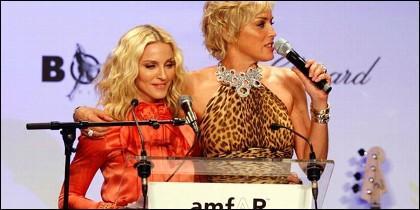 Madonna y Sharon Stone