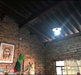 Techo de uralita en la casa de Casaldáliga