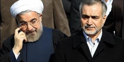 El presidente iraní Hasan Rouhani junto a su hermano, Hossein