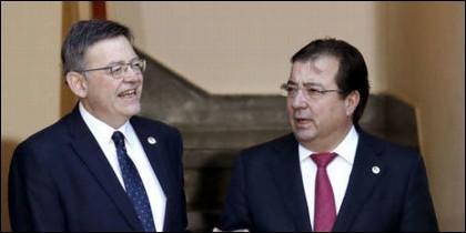 Ximo Puig y Guillermo Fernández Vara (PSOE).
