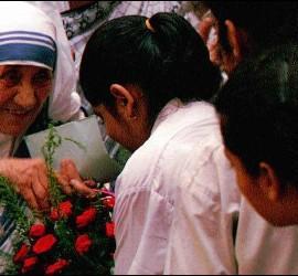 El sari de Madre Teresa Calcuta