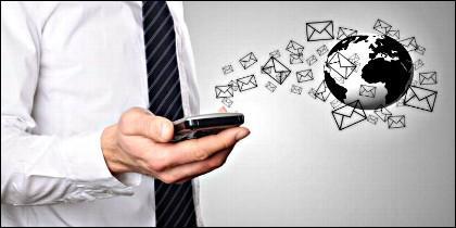 Internet, email, correo, móvil.