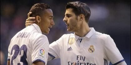Danilo con Morata (REAL MADRID).