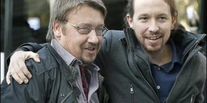 Xavier Domenech y Pablo Iglesias.