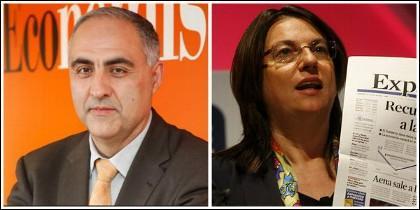 Amador Ayora (ElEconomista) y Ana Isabel Pereda (Expansión).