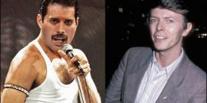 Freddie Mercury y David Bowie