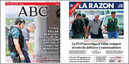 Portadas de La Razón y ABC del 19-7-2017