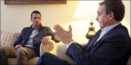 Henrique Capriles entrevistándose con Zapatero.
