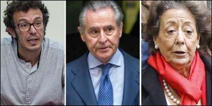 'Kichi', Miguel Blesa y Rita Barberá.