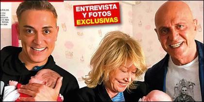 Kiko Hernández, Mila Ximénez y Kiko Matamorors en la portada de 'Diez Minutos'.