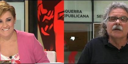Cristina Pardo y Joan Tardá.